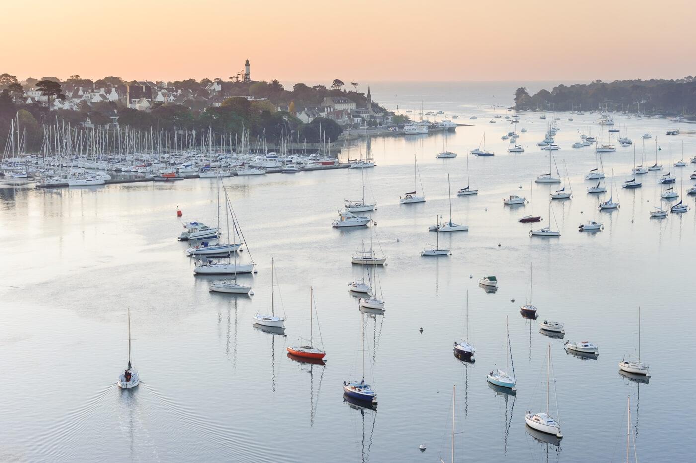 benodet sainte marine port estuaire odet