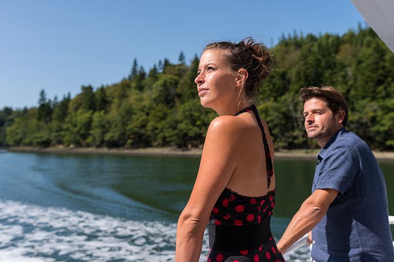 couple croisiere promenade riviere odet