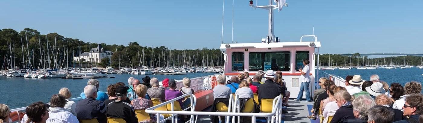 riviere odet passagers bateau croisiere promenade guidee