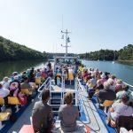 passagers vedettes odet pont superieur croisiere riviere odet