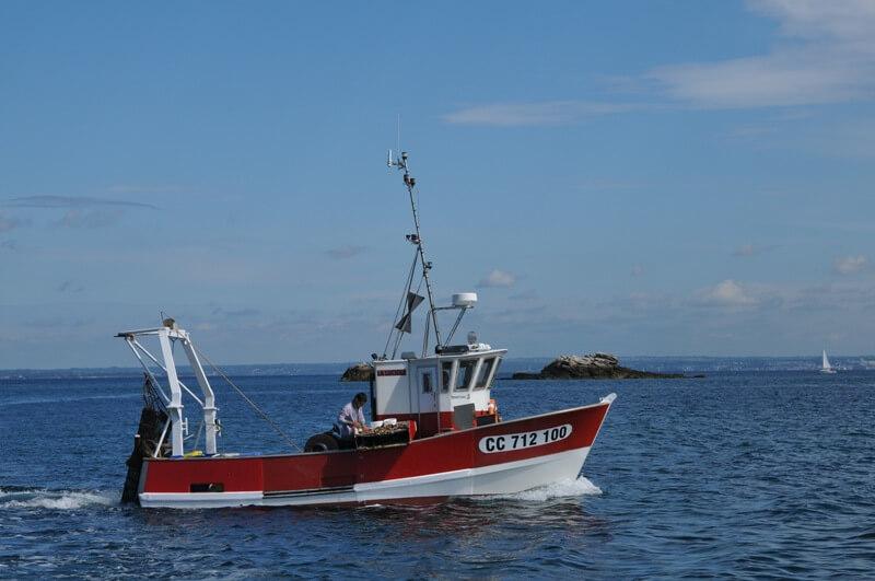 bateau peche cotier archipel glenan drague