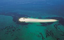 guiriden ile glenan ilot sable blanc vue aerienne