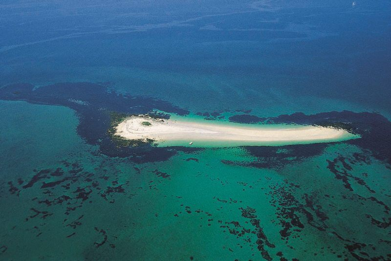 iles glenan banc sable guiriden vue aerienne