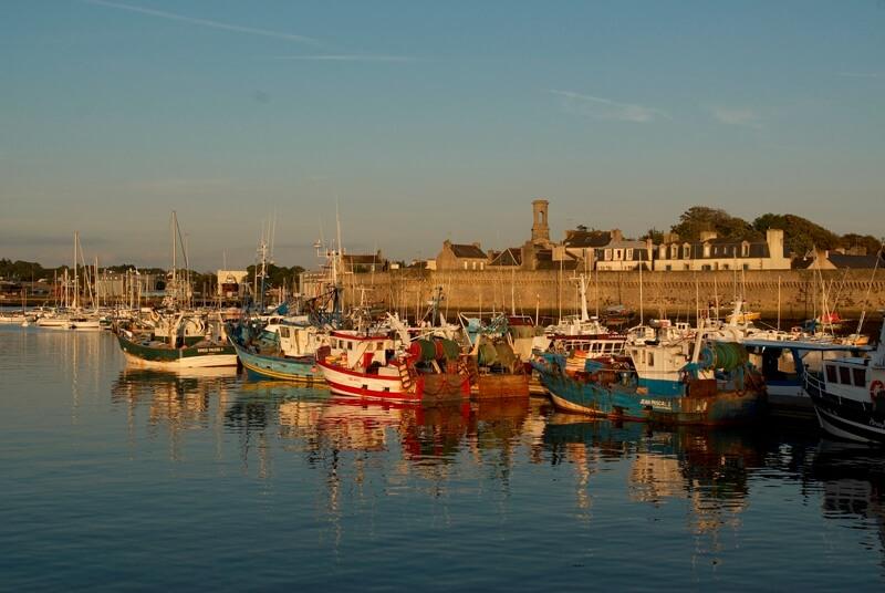 port de concarneau, embarcadère des Vedettes de l'Odet pour rejoindre Beg-Meil