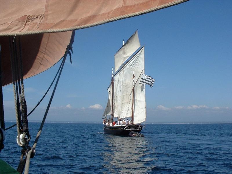 corentin sail boat glenan archipelago