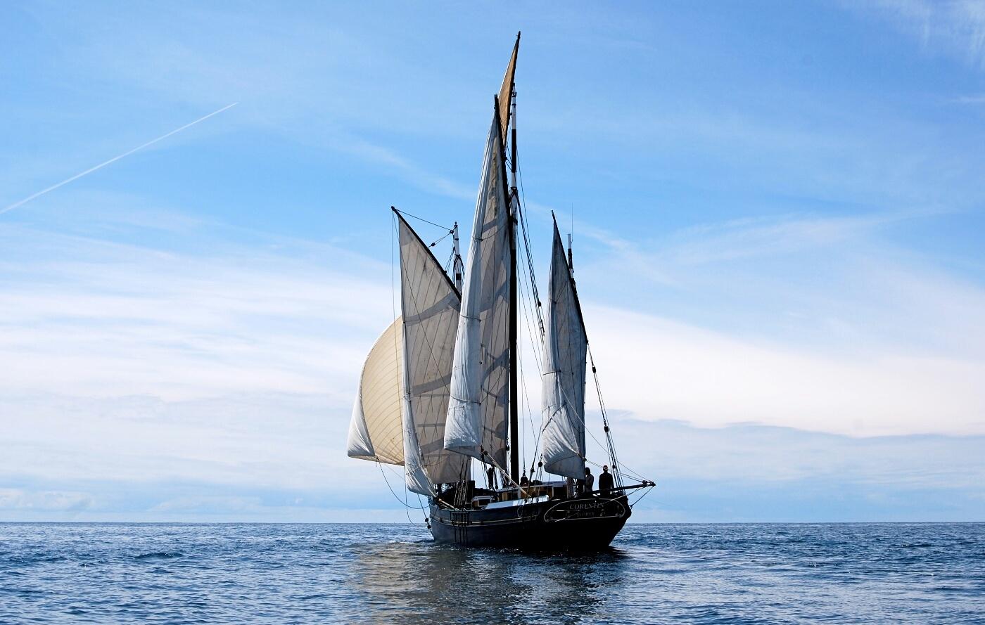 corentin voilier traditionnel iles glenan navigation ancienne