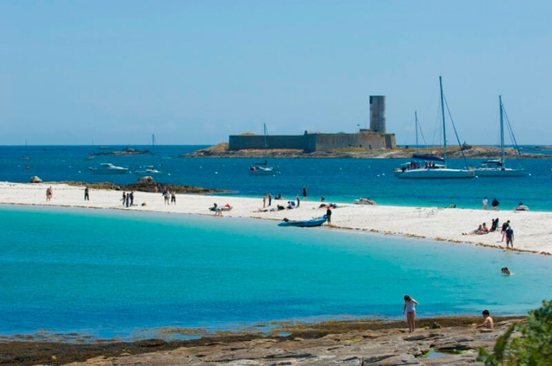 iles glenan fort cigogne tombolo Saint Nicolas