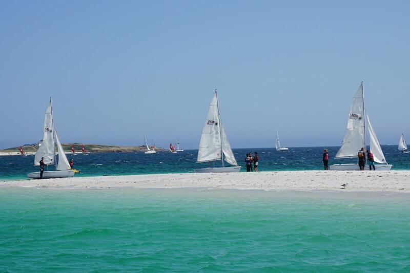 iles glenan banc sable ilot guiriden mer turquoise
