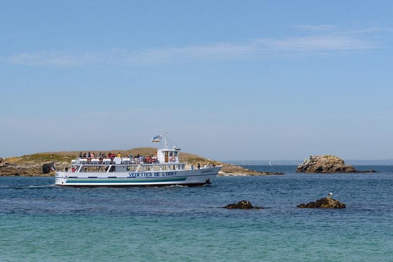 archipel glenan vedettes aigrette tour commenté iles