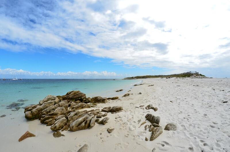 iles glenan plage exotisme breton détente calme