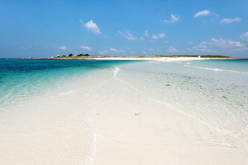 mer transparente banc sable saint nicolas beauté iles glenan