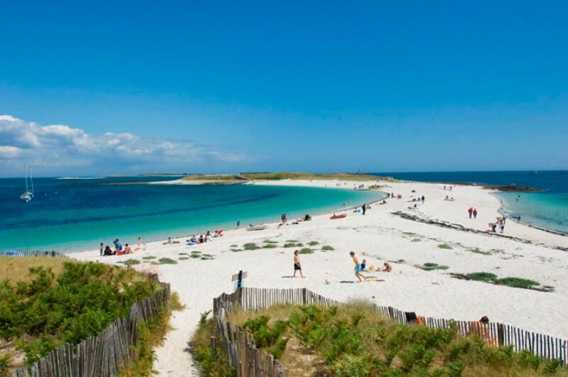 belle plage familiale bretagne sud iles glenan