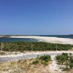 sentier cotier ile saint nicolas glenan facile poussette pietons lande sable blanc