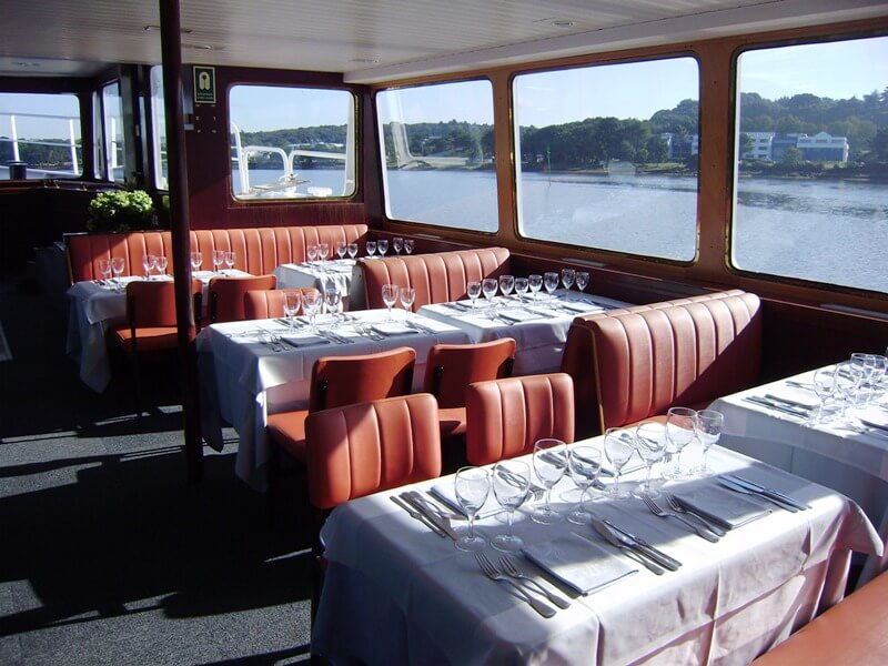 bateau restaurant salle vedettes odet benodet