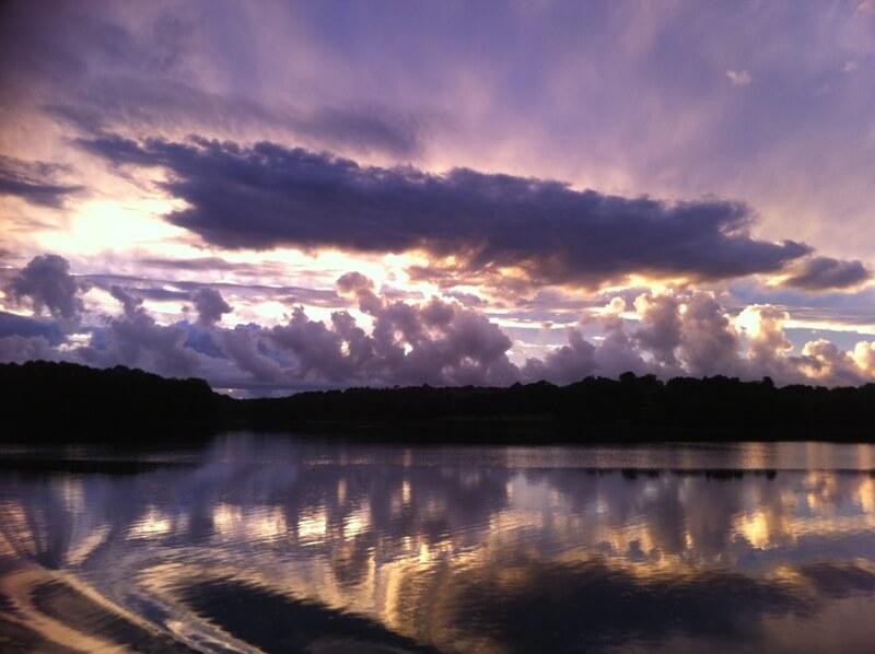coucher soleil riviere odet finistere quimper