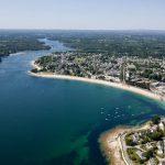 vue aerienne benodet riviere odet estuaire sainte marine