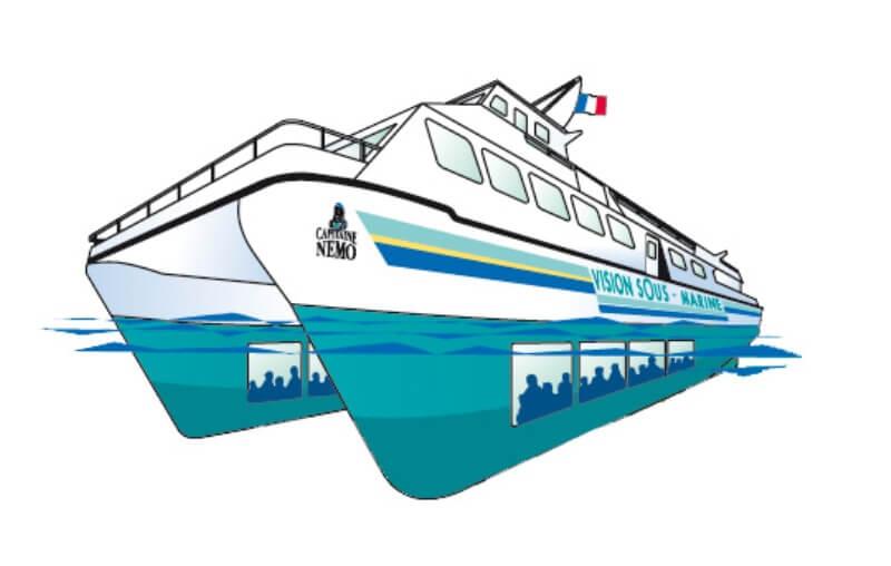vedettes odet catamaran vision sous marine capitaine nemo