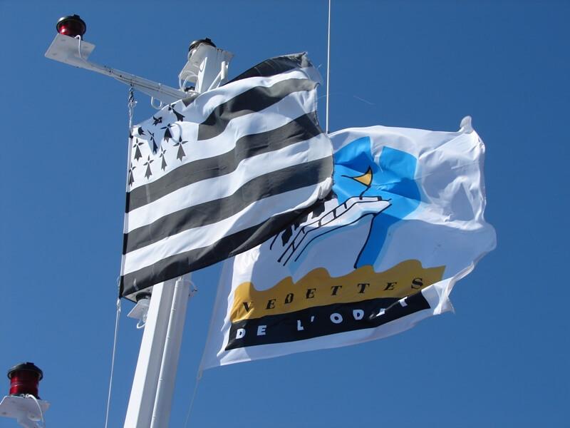 pavillons vedettes odet bretagne drapeau