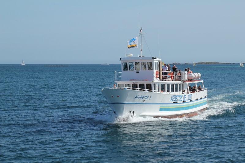 aigrette navire passagers bateau promenade iles glenan