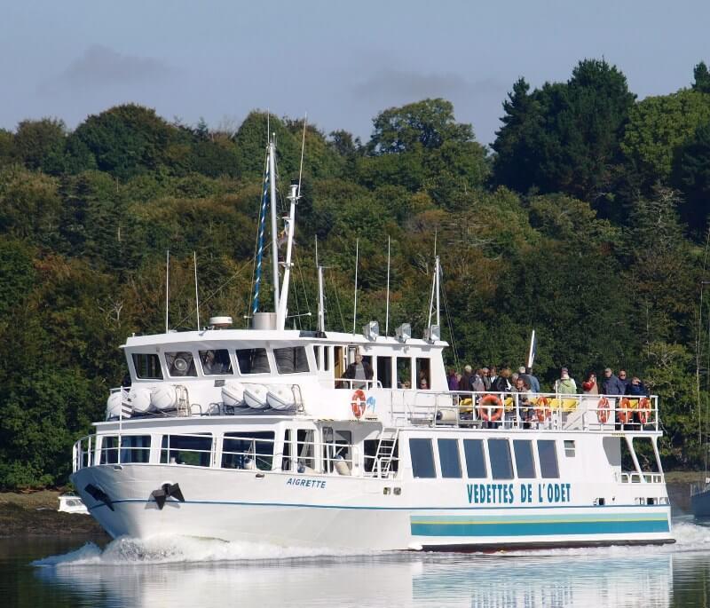 bateau restaurant aigrette riviere odet benodet
