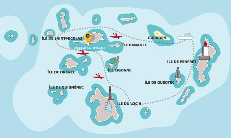 carte-archipel glenan-bretagne
