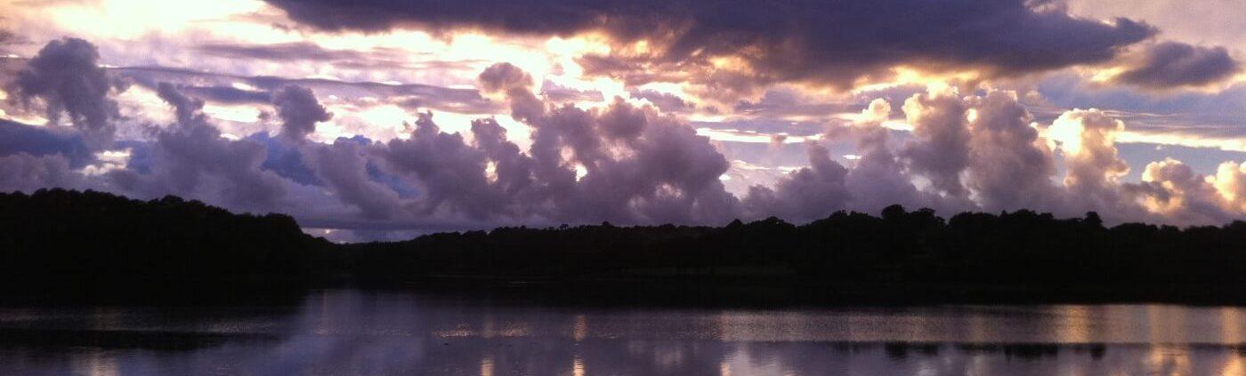 coucher de soleil sur l'Odet
